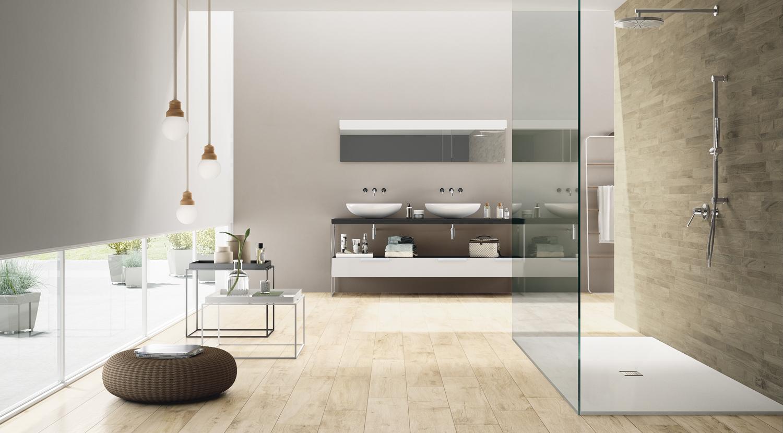 Best badkamer houtlook tegels contemporary interior design ideas
